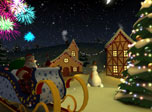 Turn this animated 3D screensaver on and the holiday atmosphere of upcoming Christmas will surround you. Transfer yourself in a fairy winter place. Start the fireworks and dance around the Christmas Tree with Santa and his friends, a funny snowmans. Enjoy the Christmas cheer! Special festive music and brilliant colorful graphics will bring true holiday feeling to your desktop. Now you don't even need to wait for the event. Just start this 3D screen saver and get the Christmas experience anytime you wish.