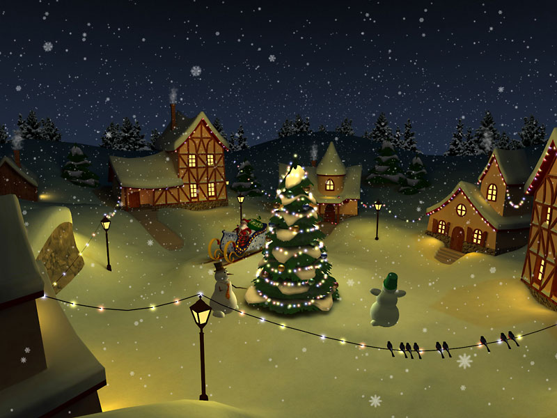 3D Christmas Holiday Screensaver System requirements