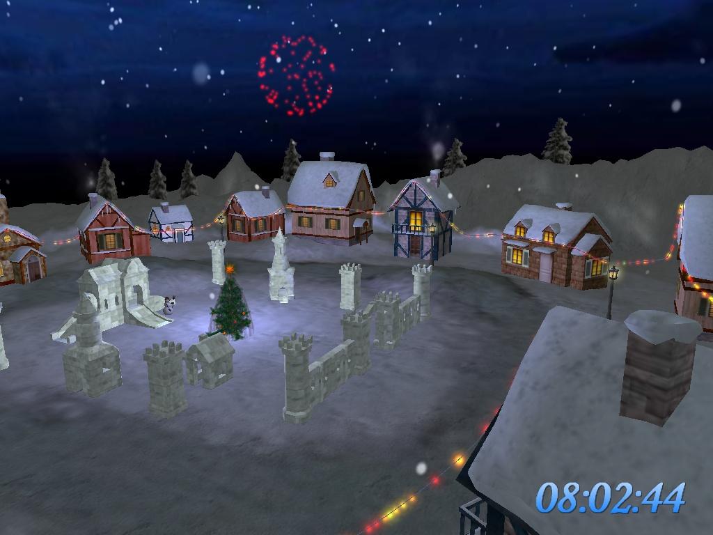 Click to view Christmas Landing Screensaver 3.8 screenshot