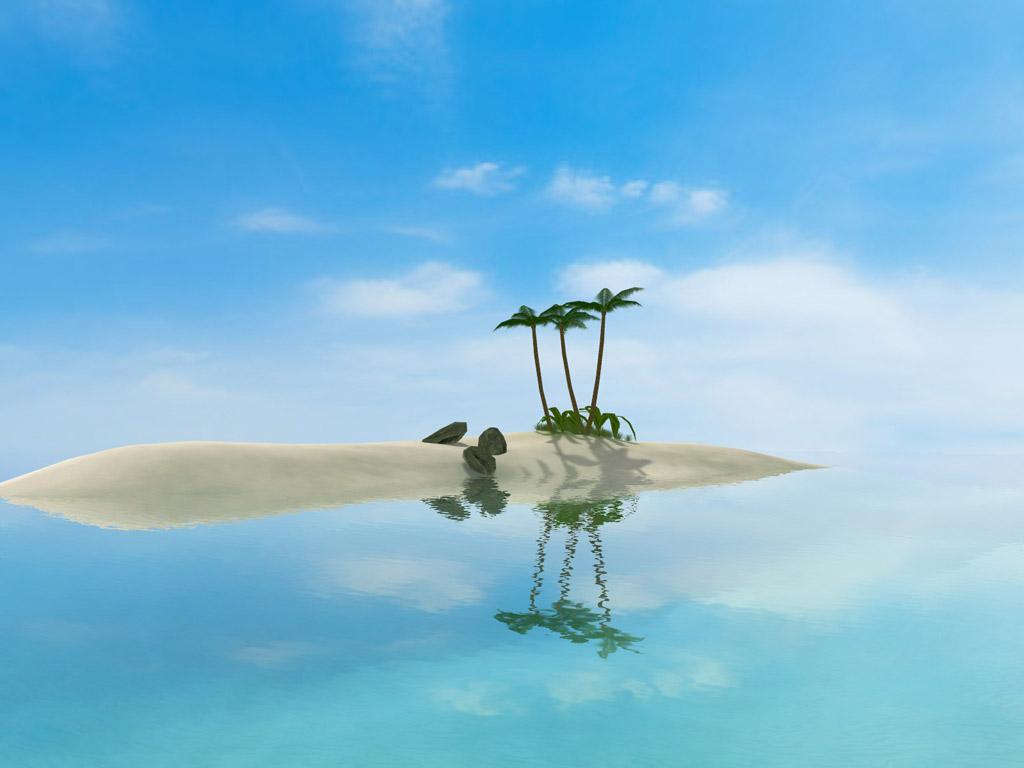 3D Oasis ScreenSaver screenshot: screensaver,screensavers,screen,saver,3d,nature,oasis,sea,ocean,paradise,coast,shore,calm,rest,journey,download