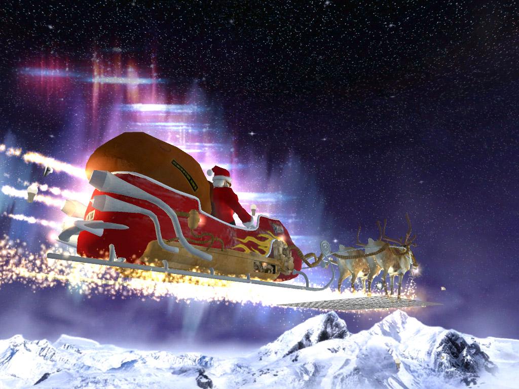 Santa's Flight 3D screensaver: a breathtaking flight in a reactive ...