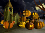 Turn your computer on and watch mystical overnight actions before the Halloween. Thousands of pumpkins hordes on an old graveyard and do occult preparations to the upcoming event. Seems, all that devilish Jack O'Lanterns going to execute their awful plan this night. The coming night is the Halloween! The Scary Halloween!
