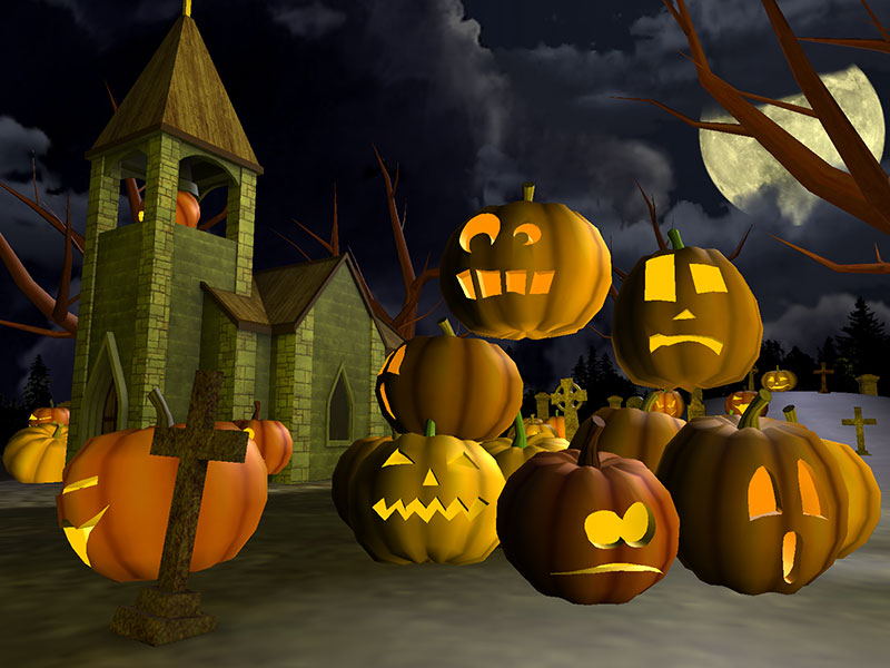 3d scary halloween screensaver screenshots
