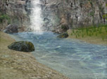 A beautiful waterfall setting is waiting for you far away from the noise of the city. Watch the eye-pleasing scenery surrounding this enchanting wonder of Nature. Listen to the melodic sounds of the waterfall bubbling by and see the fish rushing up and down the stream. It's one of the best relaxing 3d screensavers.