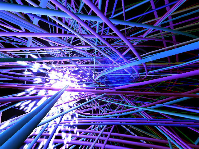Look Into A Hunk Of Electric Wires With Wire World 3D Screensaver