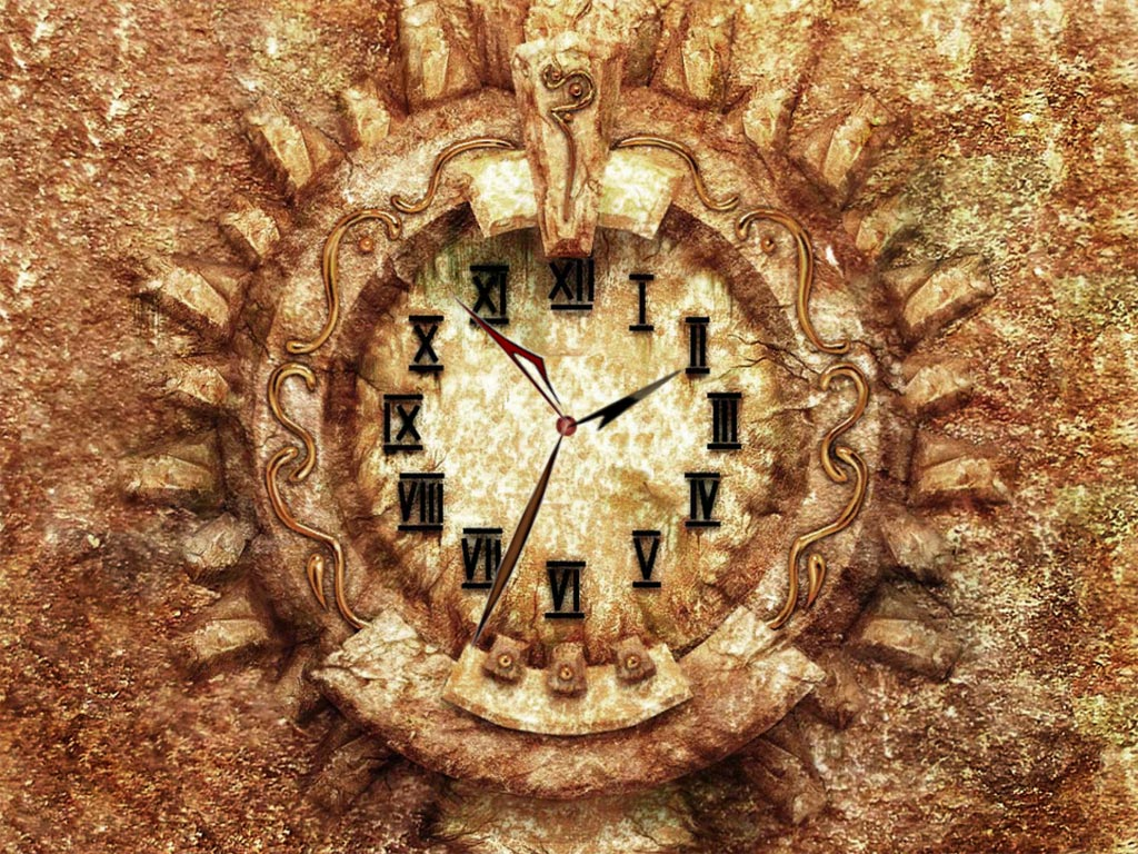 7art Antic Clock screensaver