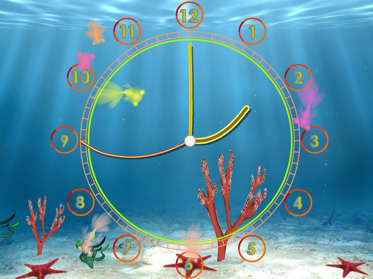 Fish aquarium for windows 7 screensaver - Aquarium Clock Screensaver Screenshots