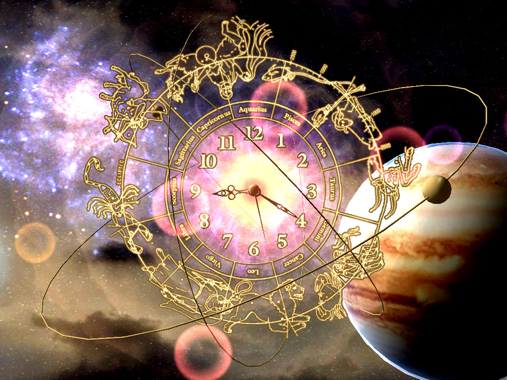 Astro Clock 3D Screensaver - tune in the space rythms of zodiac!
