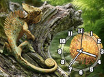 The vigilant chameleon sits solemnly on your desktop adapting its camouflage to the natural tropical environment. Be amazed at the handsome creature perfect in grace and majesty! Let it be the symbol of security and magical transformation for your daily life!