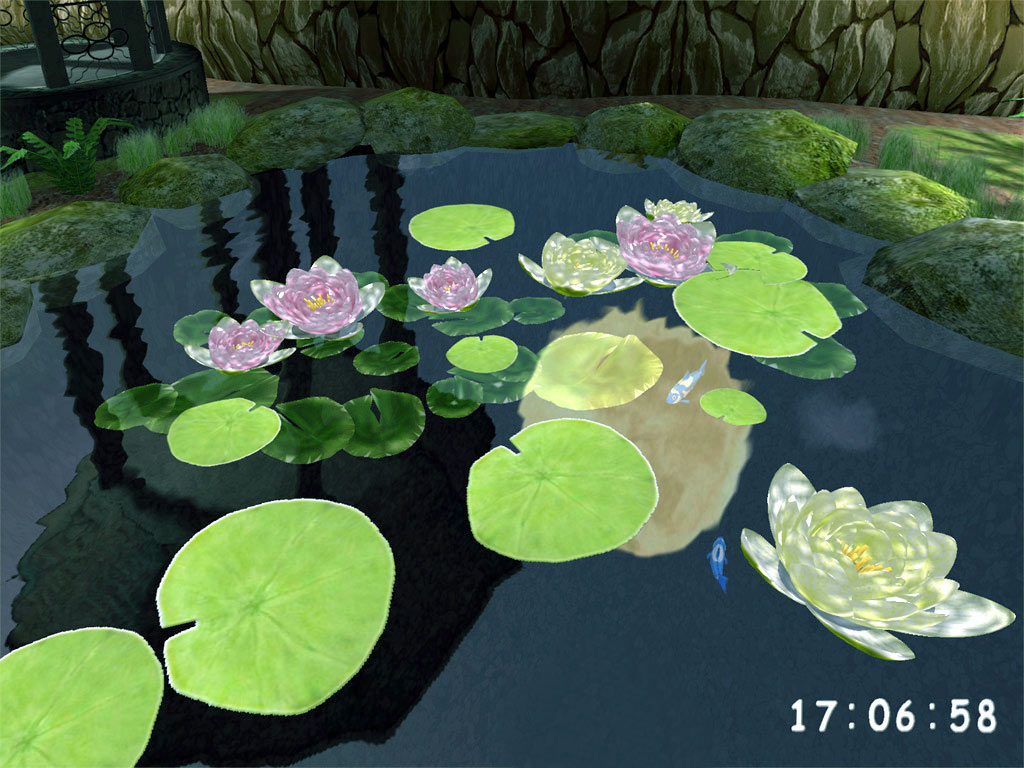 3D Lovely Pond ScreenSaver