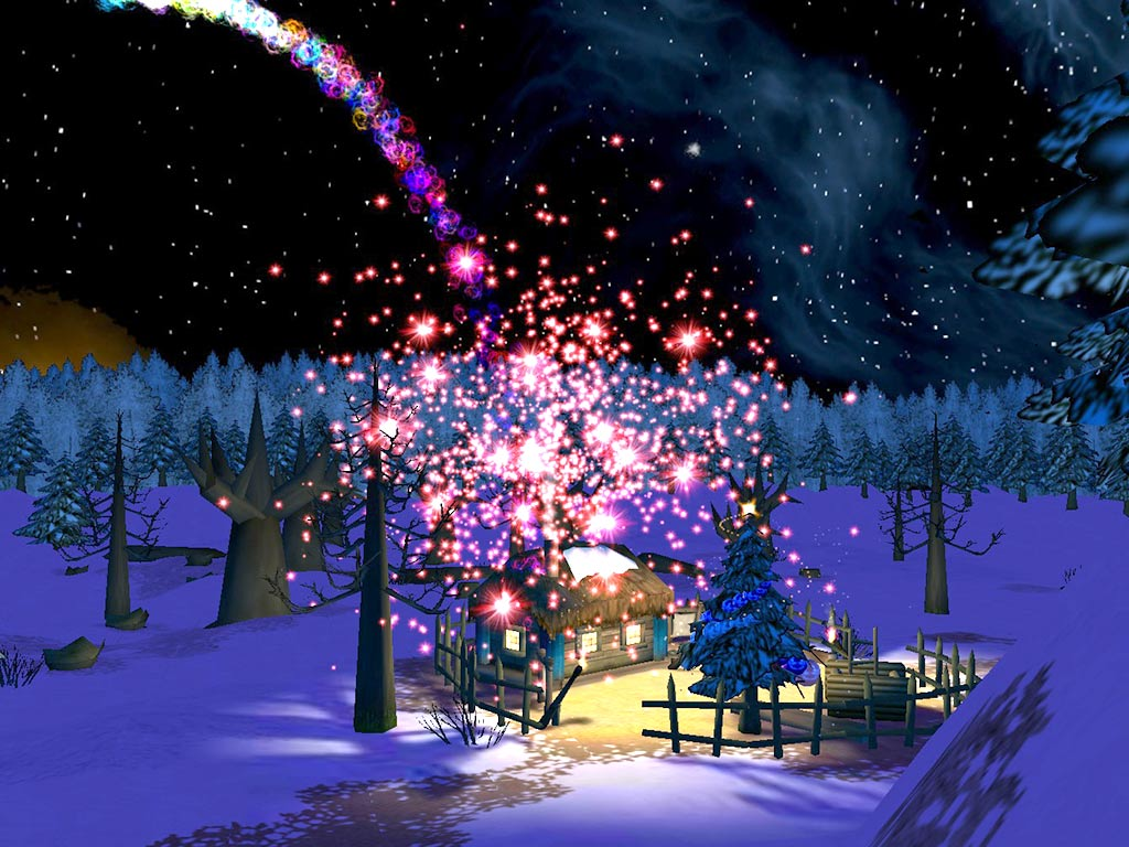 Chritmas Night 3D Screensaver: Visit Santa's House And Let