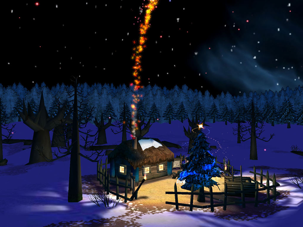 Christmas Night 3D screensaver