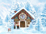 The Clock is ticking and the Christmas is coming closer. The real miracles are going to happen soon. Welcome to the Santa Claus's Christmas House. Everybody there are always happy even cat and little mouse.