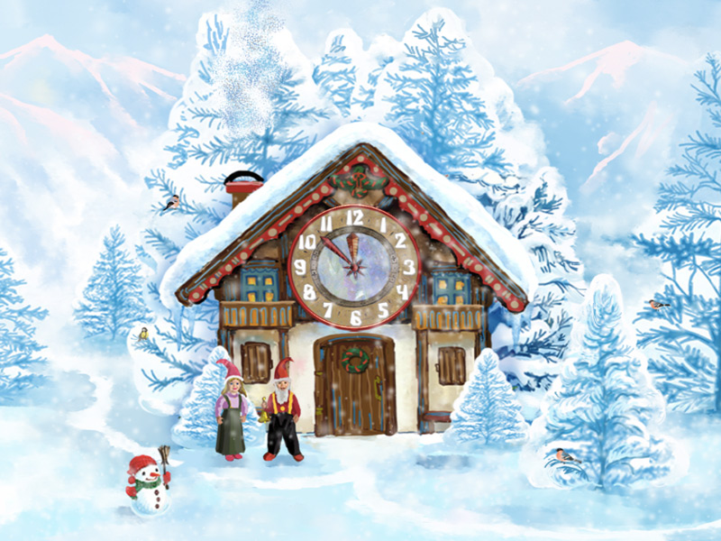 the clock is ticking and the christmas is coming closer the real miracles are going 7art christmas house - Christmas House Pictures