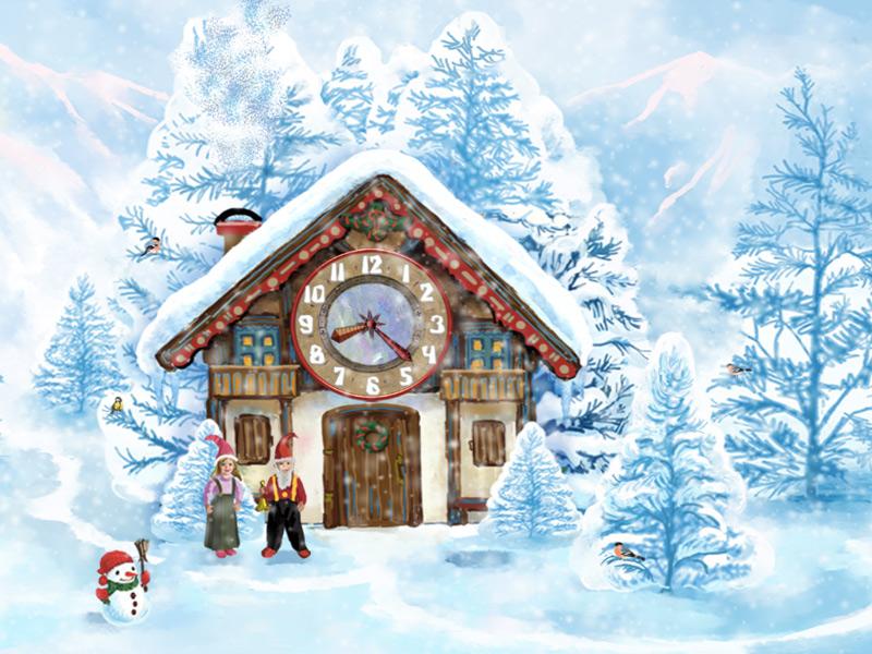 7art Christmas House Clock screensaver - Welcome to the home of ...
