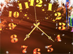 7art Christmas Magic Clock screensaver - Ornament your PC in a Christmas bright way!