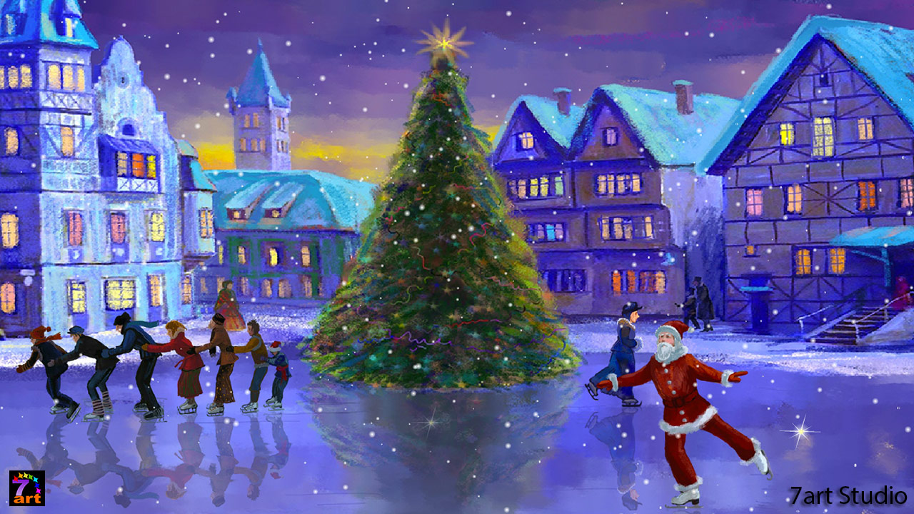 christmas rink screensaver and live wallpaper - your brilliant