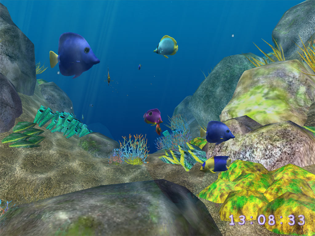 Coral world 3d screensaver screenshots