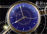 Whirling pictures of events in outer space. Fractal views of stars, galaxies and nebulas fascinate your imagination with colors and rotations carrying you far away. And above all these accurate rate of the geometrically elegant Cosmos Socrat Clock.