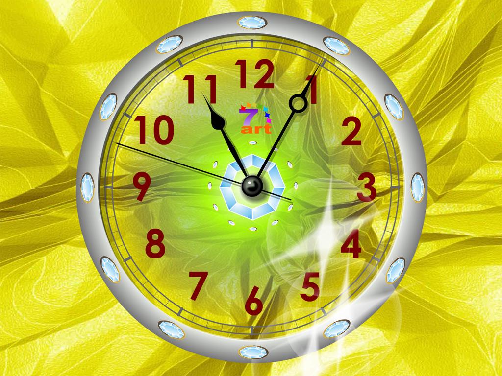 7art Crystal Clock ScreenSaver for Mac OS