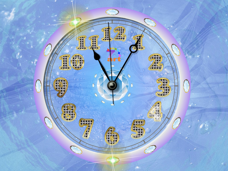 Crystal Clock Diamond ScreenSaver