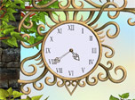7art Eternal Love Clock screensaver - Eternal love fills heart with eternal spring!