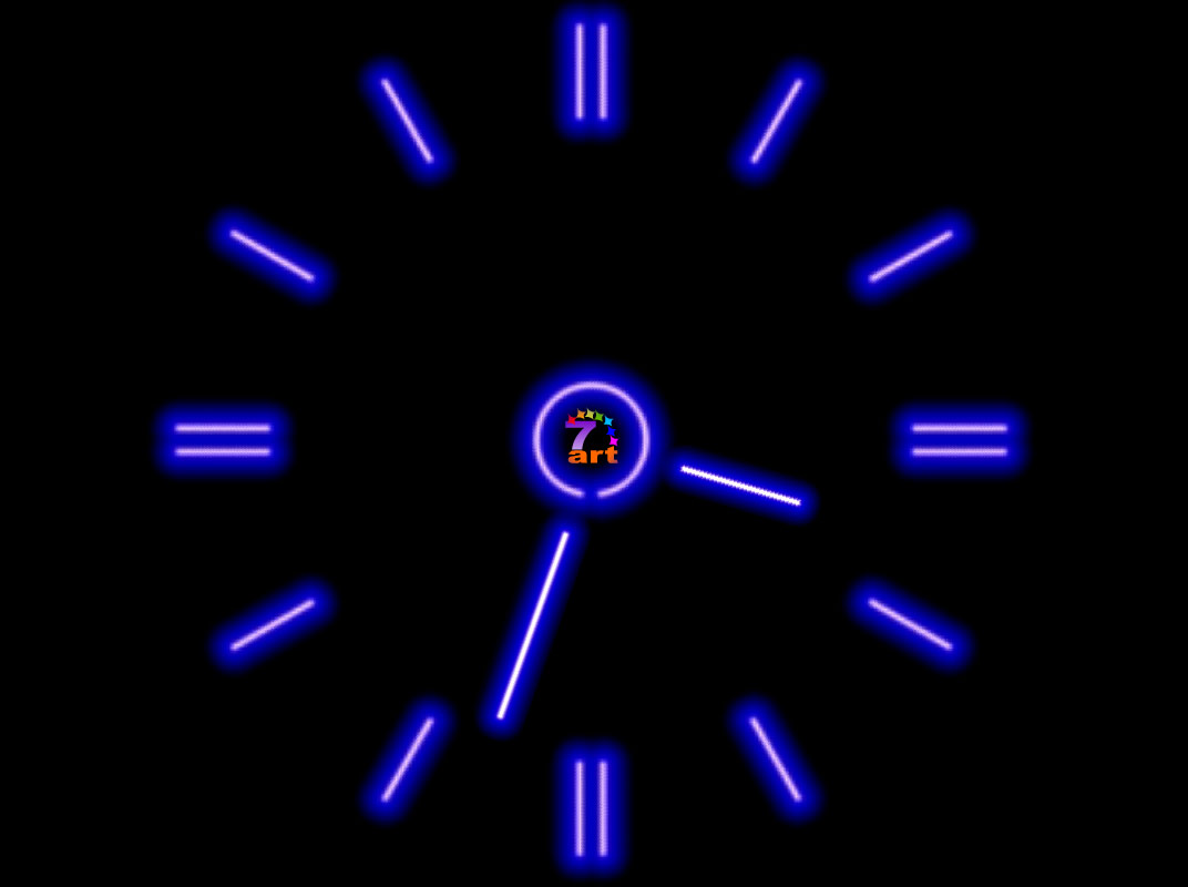 7art Fluorescent Clock Screensaver: Enliven your room with ...
