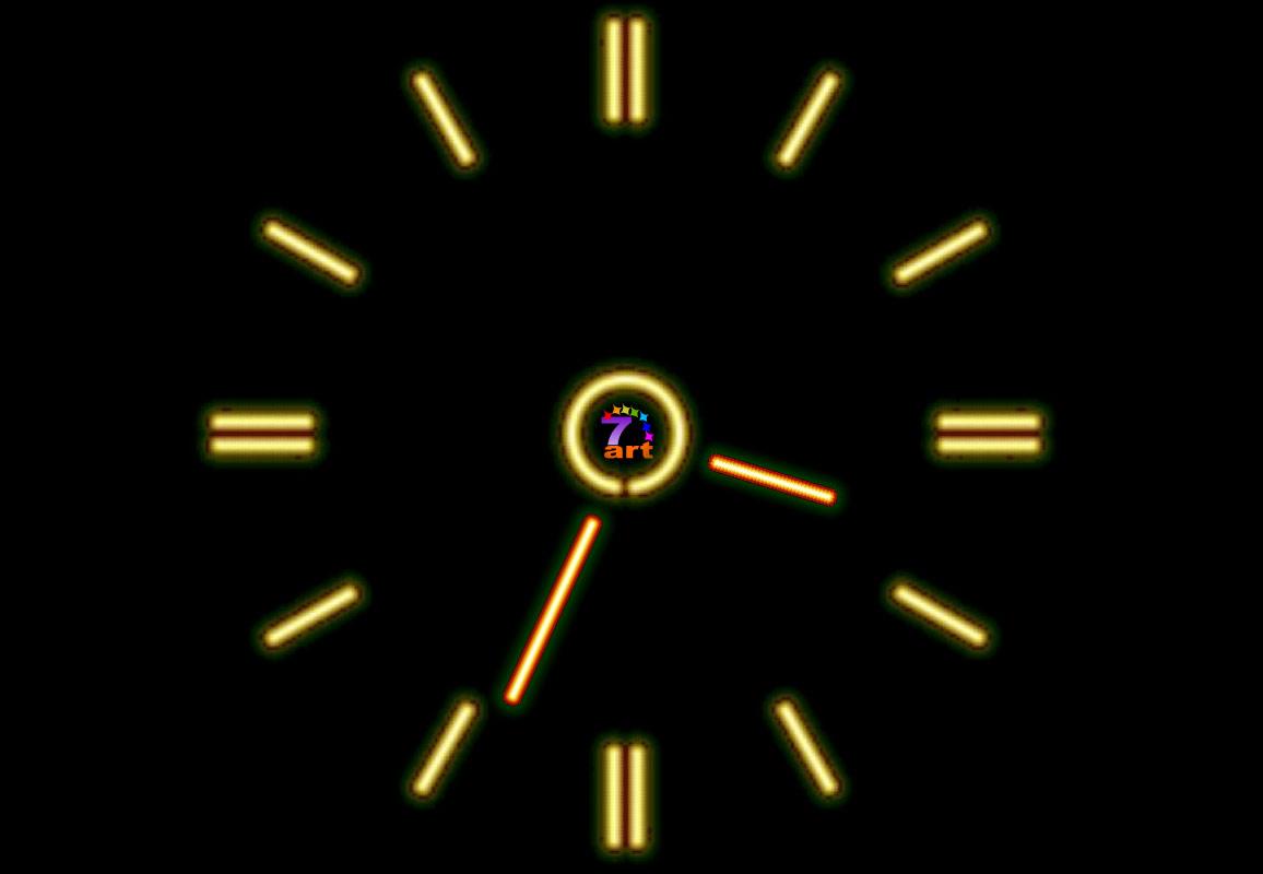Fluorescent Clock screensaver