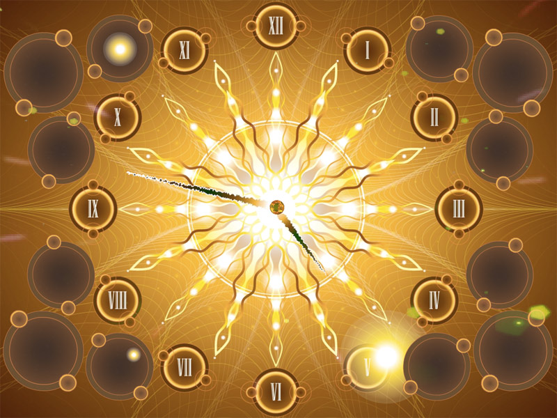 Fractal Sun Clock ScreenSaver