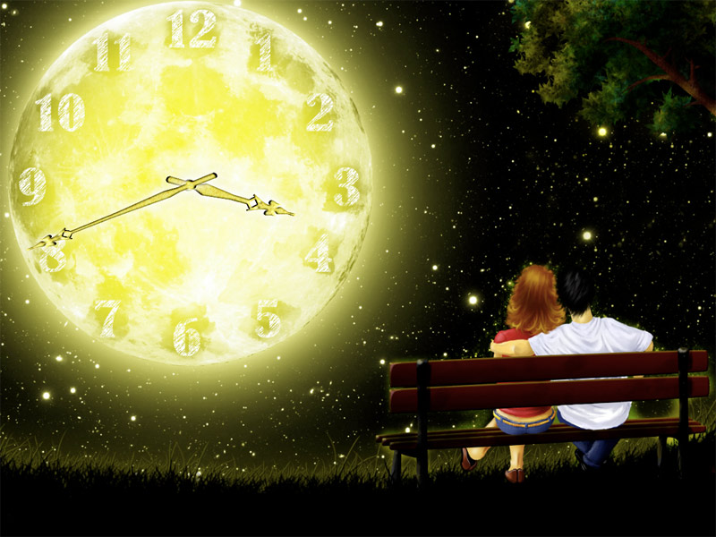 7art Full Moon Clock Screensaver Make Wishes And Set Intentions