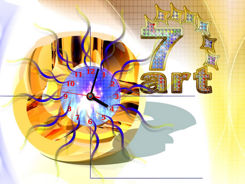 screen,saver,desktop,clock,crystal,time,accurate,atom,universe,rhythm,second,glowing,neon,crystal
