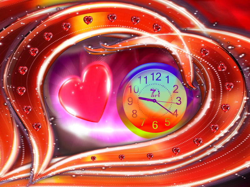 Love Dance Clock ScreenSaver
