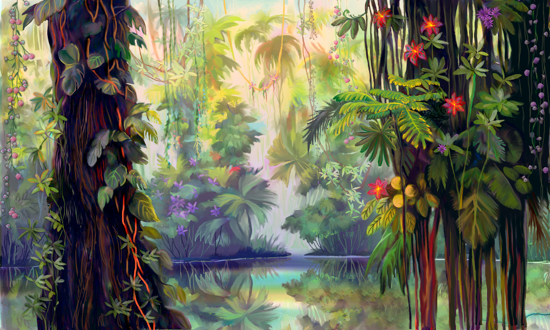 Luminescent Jungle ScreenSaver