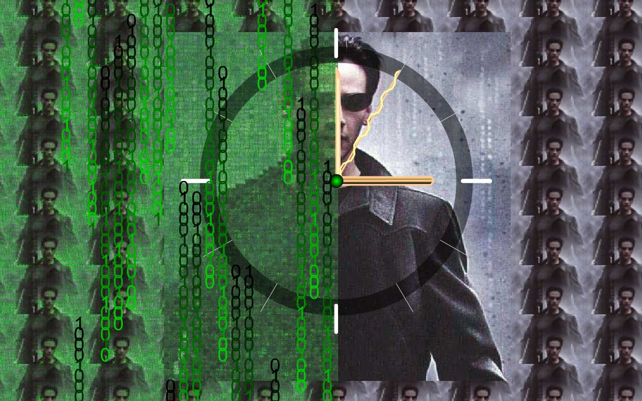 Free download Matrix Clock Live Animated Wallpaper