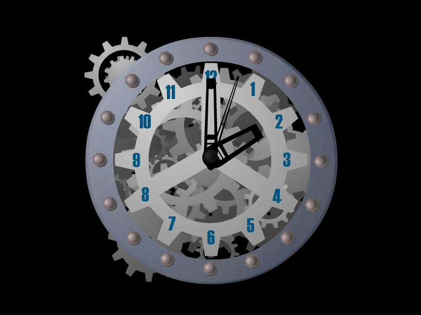 7art Mechanical Clock ScreenSaver