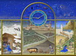 7art Middle Ages Clock screensaver - reveal one the most fascinating pages of World Art.
