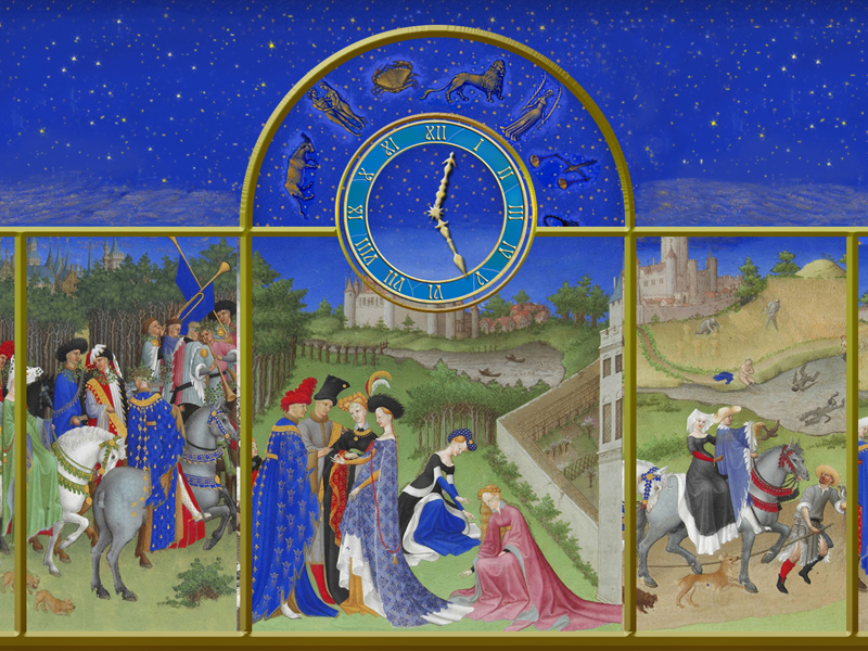 Middle Ages Clock opens one the most of World