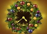 7art New Year Clock screensaver - Get in the spirit of coming holidays by switching on this festive Christmas Clock