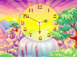 The warm tropical sun is going down the sparkling rivers down a waterfall. It has thrown peculiar shadows all around the palm trees. The air is delicious and smells juicy. It even seems that the face of Oasis Clock is slowly getting tanned.