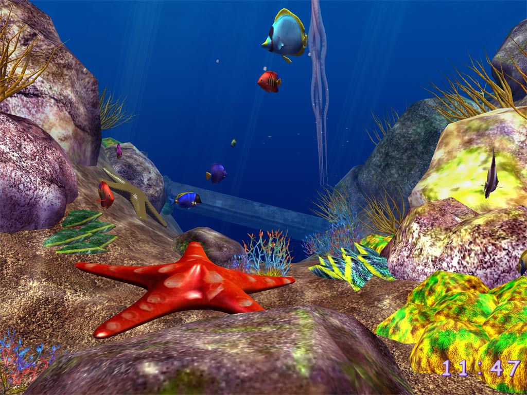 3D Ocean Fish ScreenSaver