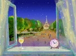 7art Paris Clock screensaver - be amazed at elegant and romantic Paris scent!