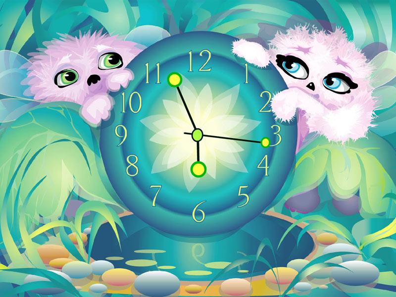 Alien Pets' Clock screensaver - download free screensaver