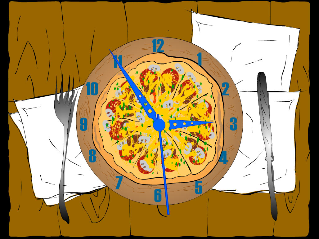 Hungry? Download free 7art Pizza Clock! All you need is to beleive in miracles and they will begin to happen frequently! As usually with 7art Clock screensavers - there is a hidden magic feature built-in its clockwork - if you are on diet it will help you not to eat too much, otherwise it could be a nice virtual appetizer!