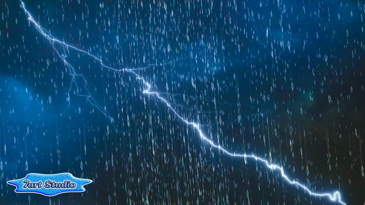 Rainy Lightning Storm screensaver & animated desktop ...