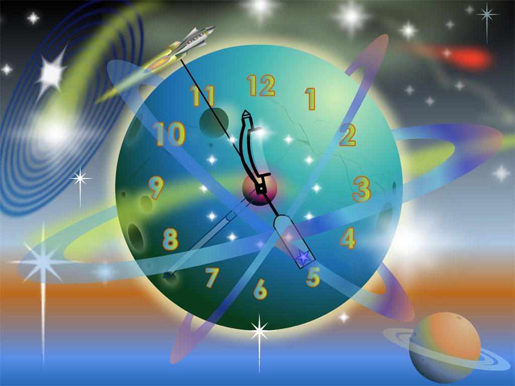 Screensaver Download Rocket Clock Screenshots