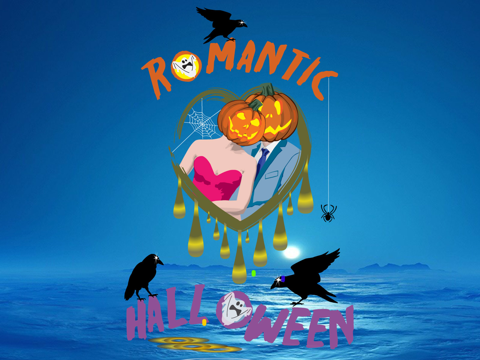 get ready for the coming halloween it is the right time to loose your head romantic halloween screensaver - Halloween Screensavers Animated
