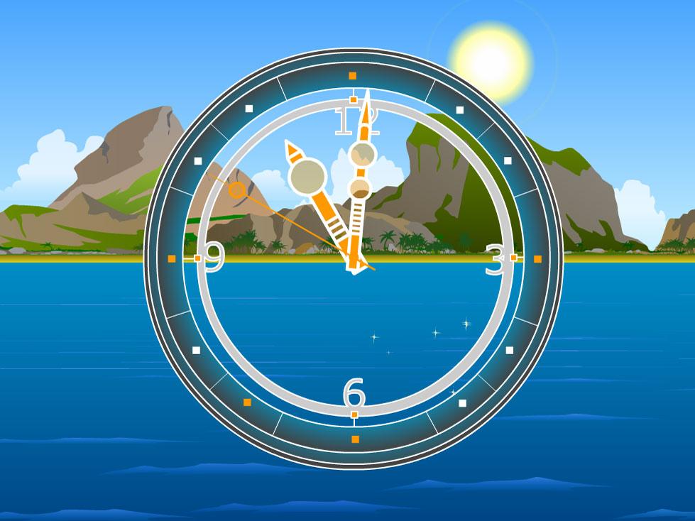 Screenshot of 7art Safari Clock ScreenSaver