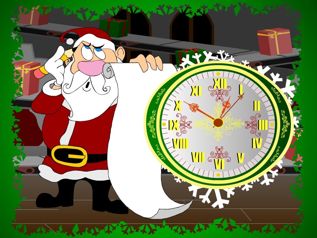 7art Santa Claus Clock ScreenSaver