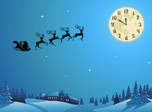 Santa's flying really high in the magic Christmas sky. Perfect gifts inside his sleigh never lost on their way. Feel the spirit of the feast and create your new wish list! Santa could fulfill your dreams with great pleasure as it seems.