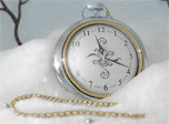 7art Silver Snow Clock screensaver - Silence and calmness of a most beautiful winter evening!